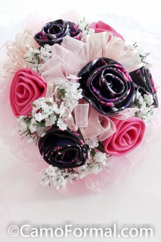 Muddy Girl Bridesmaids Bouquet with Fuschia and Pink