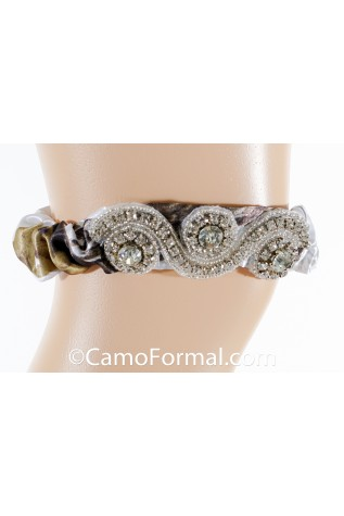 Garter with Heavy Crystal Accent, Available all camos