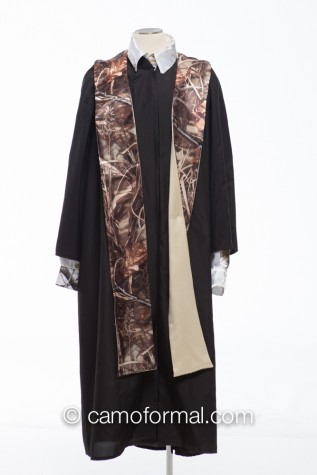 Graduation Stole on Black Gown