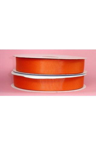 Hunter's Orange Grosgrain ribbon by the yard