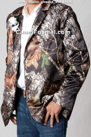 Men's Tuxedo Jacket in Mossy Oak