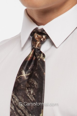 Men's Long Camo Tie