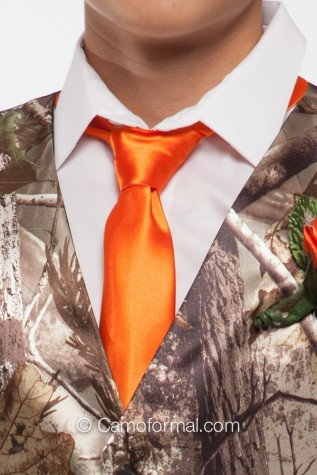 Skinny Tie in Hunter's Orange
