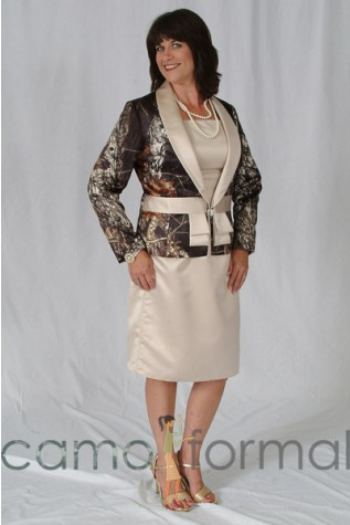 Mother's Dress and Camo Accented Jacket