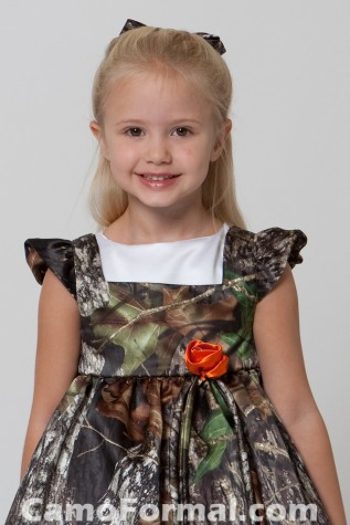 Girls Camo Pinafore