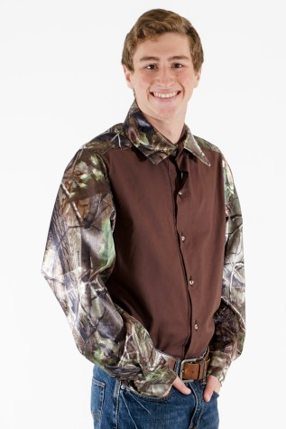 Prairie Shirt - 100% Cotton and Satin Camo Trim