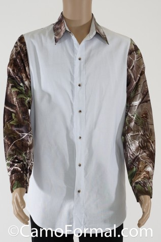 Prairie Shirt shown in White and Realtree APG