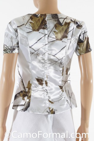 Back: Camo Square Neck Top with Sleeves