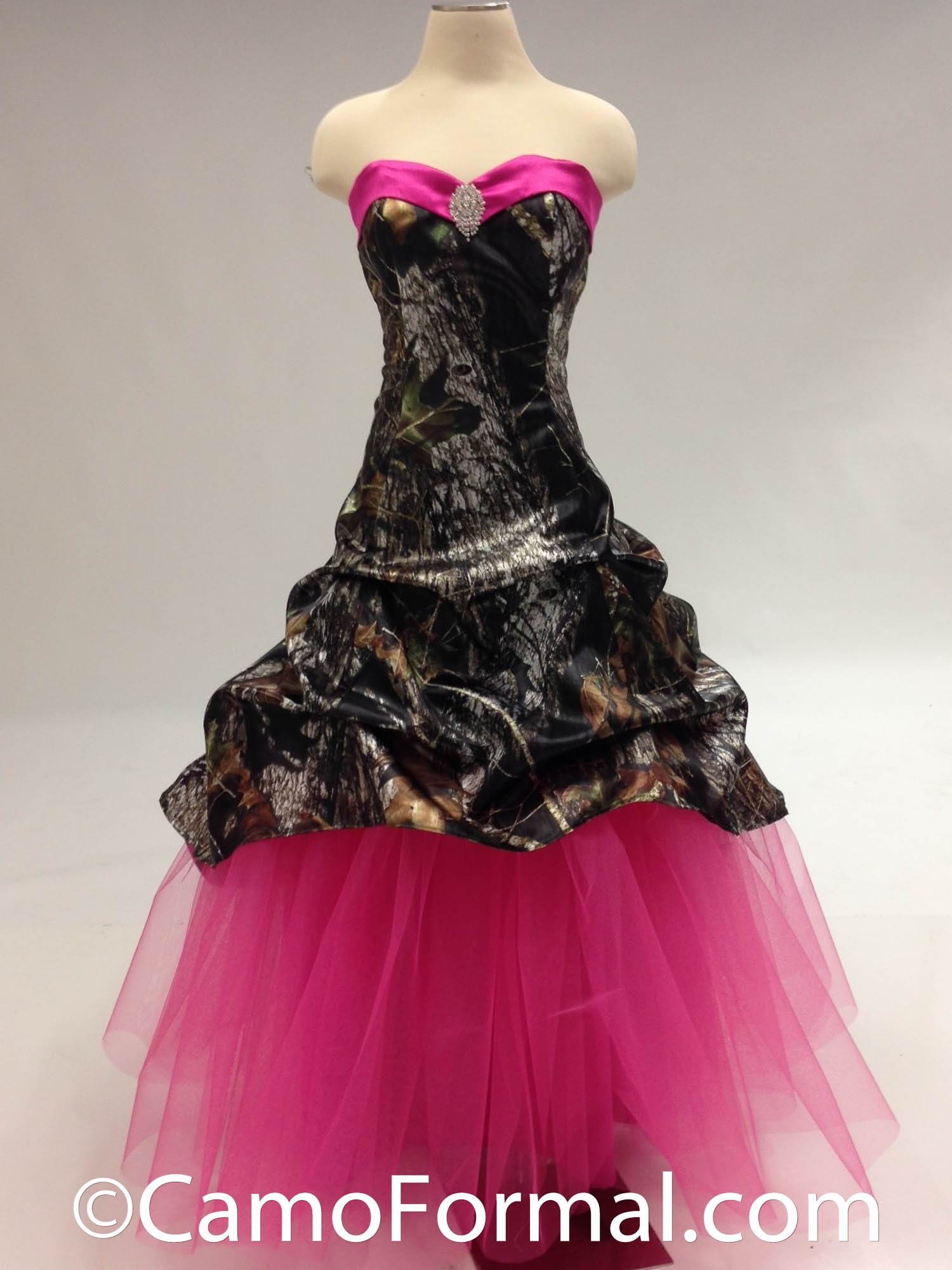 3011 mossy oak camouflage prom wedding homecoming formals for Camo ribbon for wedding dress