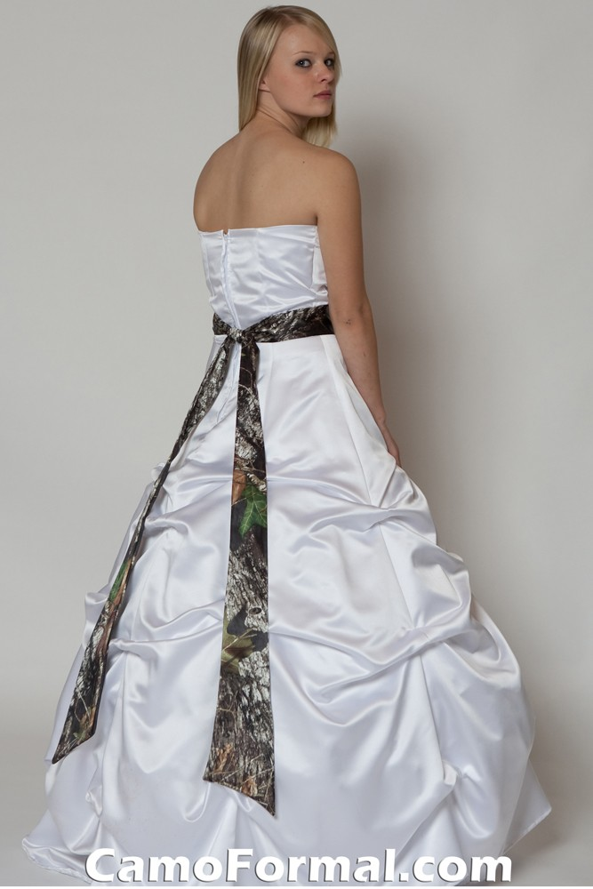 White With Camo Wedding Dresses : To your dress accessories camouflage prom wedding homecoming formals