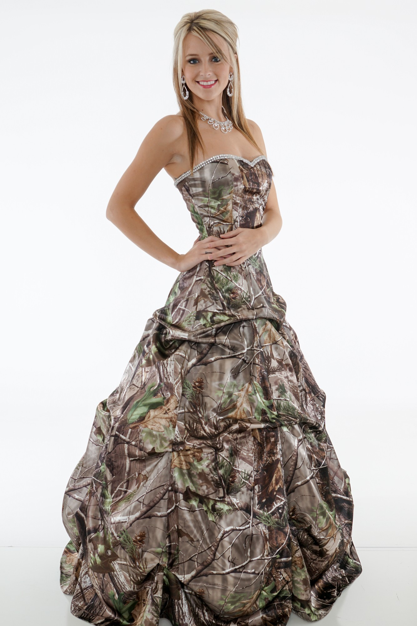Camo dress for any occasion camouflage prom wedding for Camo ribbon for wedding dress