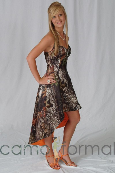 3046 hilow camo dress with contrast lining camouflage