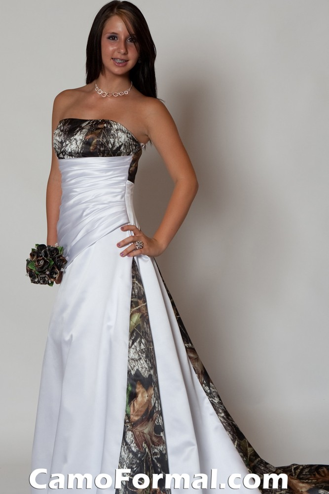 Wedding Dresses In White And Camo 25
