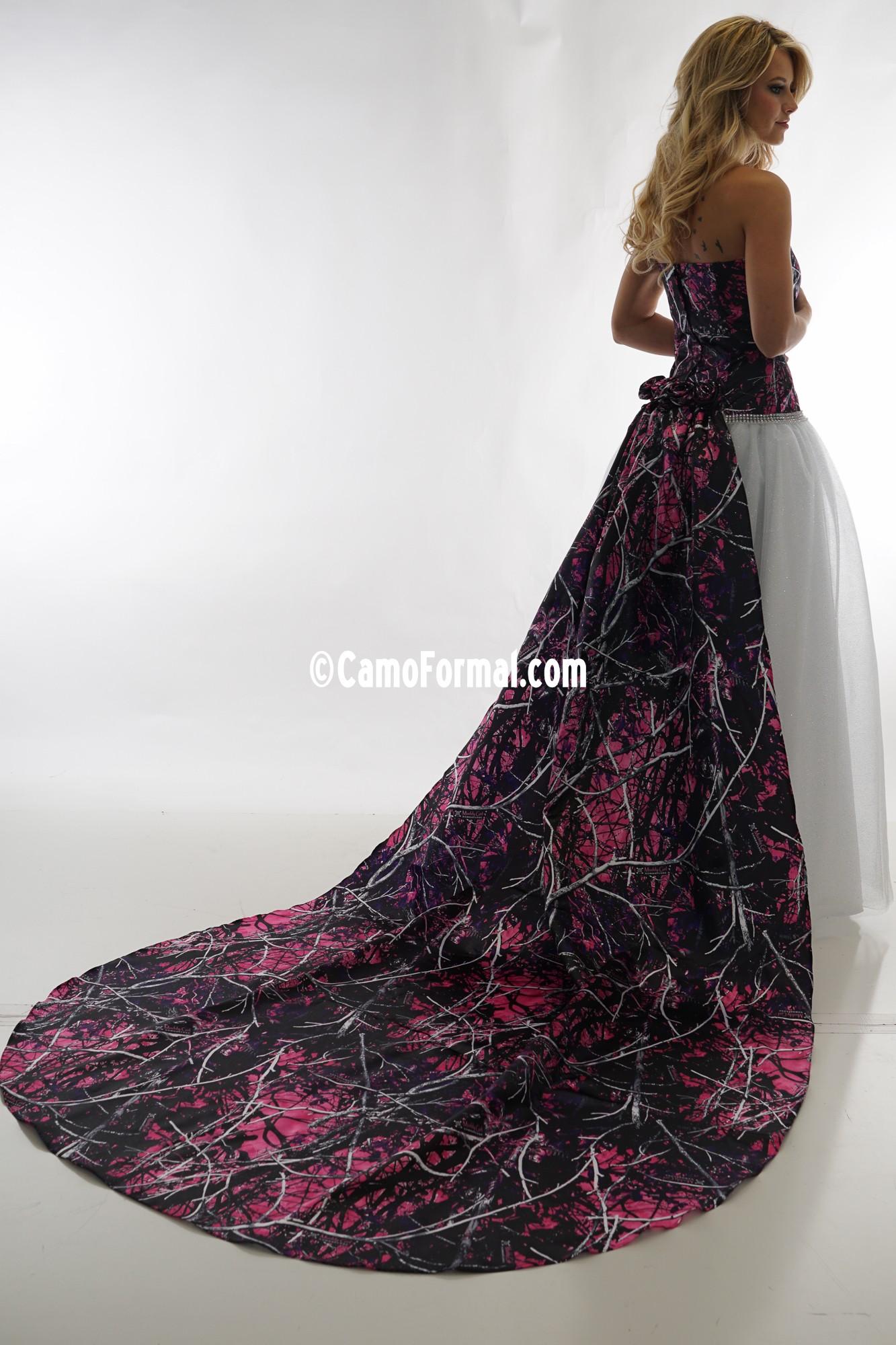 3655 Ball Gown Glitter Net Camouflage Prom Wedding