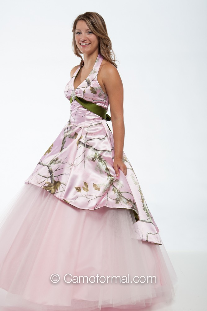 3659m camo ball gown over circle net skirt camouflage prom for Camo ribbon for wedding dress
