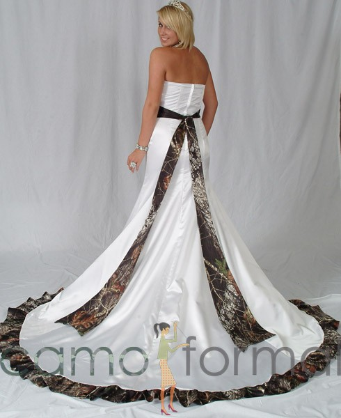 Camo Wedding Dresses: Mossy Oak New Breakup Attire Camouflage Prom Wedding