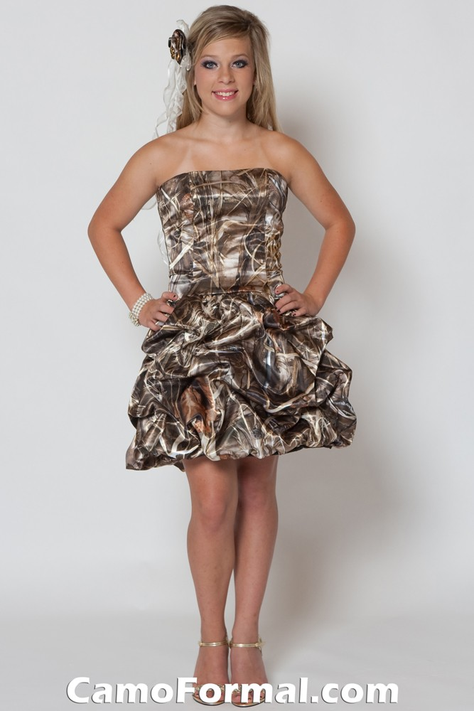 Beautiful Camouflage wedding dresses just for the woman that loves camo.