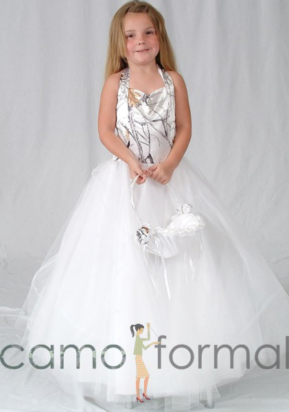 Mossy oak kids camo collection camouflage prom wedding for Snow camo wedding dresses