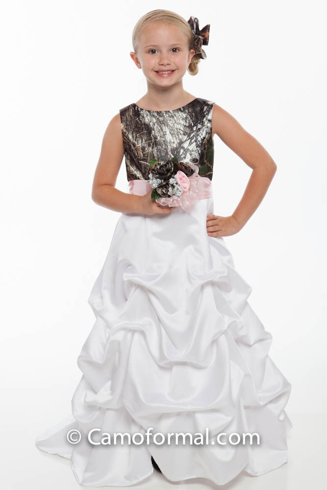 5600 Camo Flower-girl Dress Camouflage Prom Wedding Homecoming Formals