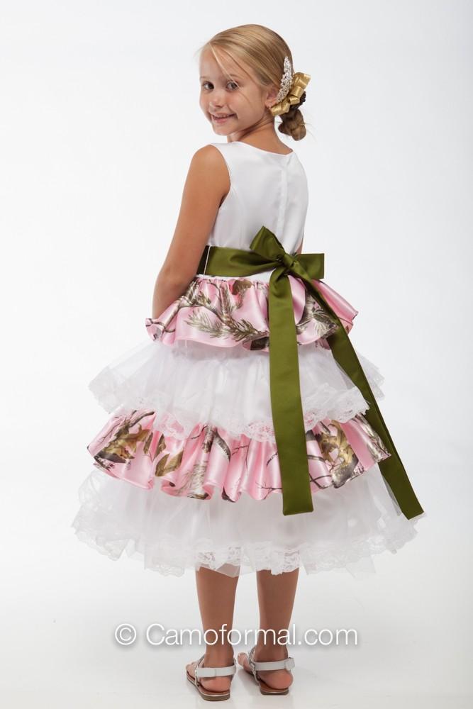 Cheap Camouflage Flower Girl Dresses 32