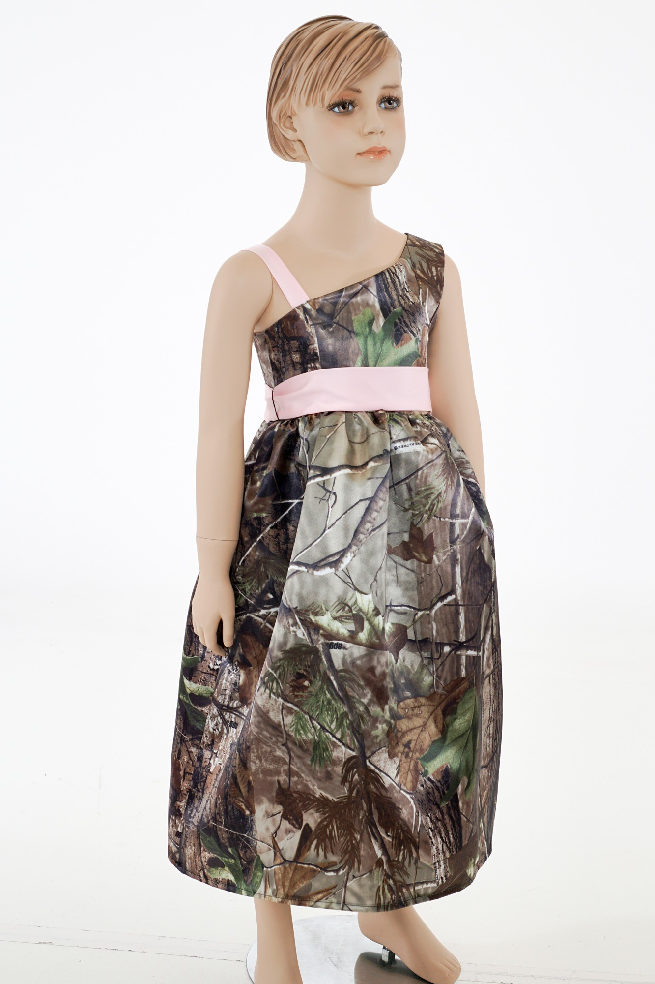 Camo Flower Girl Dress Camouflage Prom Wedding Homecoming