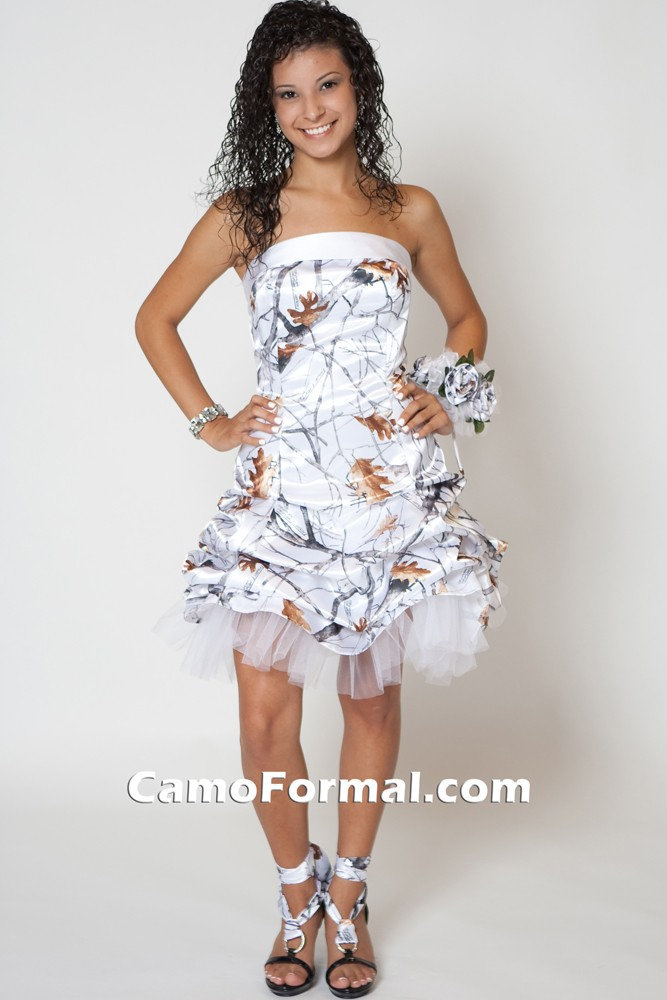 7621 In True Timber Pink Snowfall Camouflage Prom Wedding