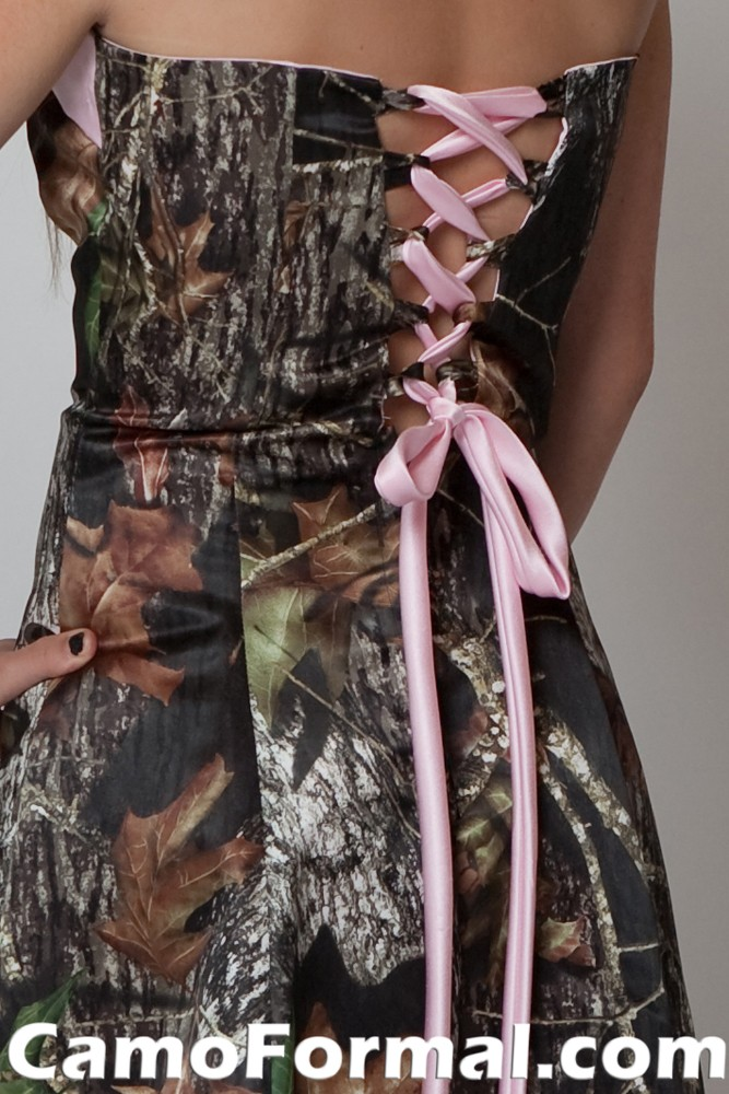 Pink Camo Lace Dress for Prom