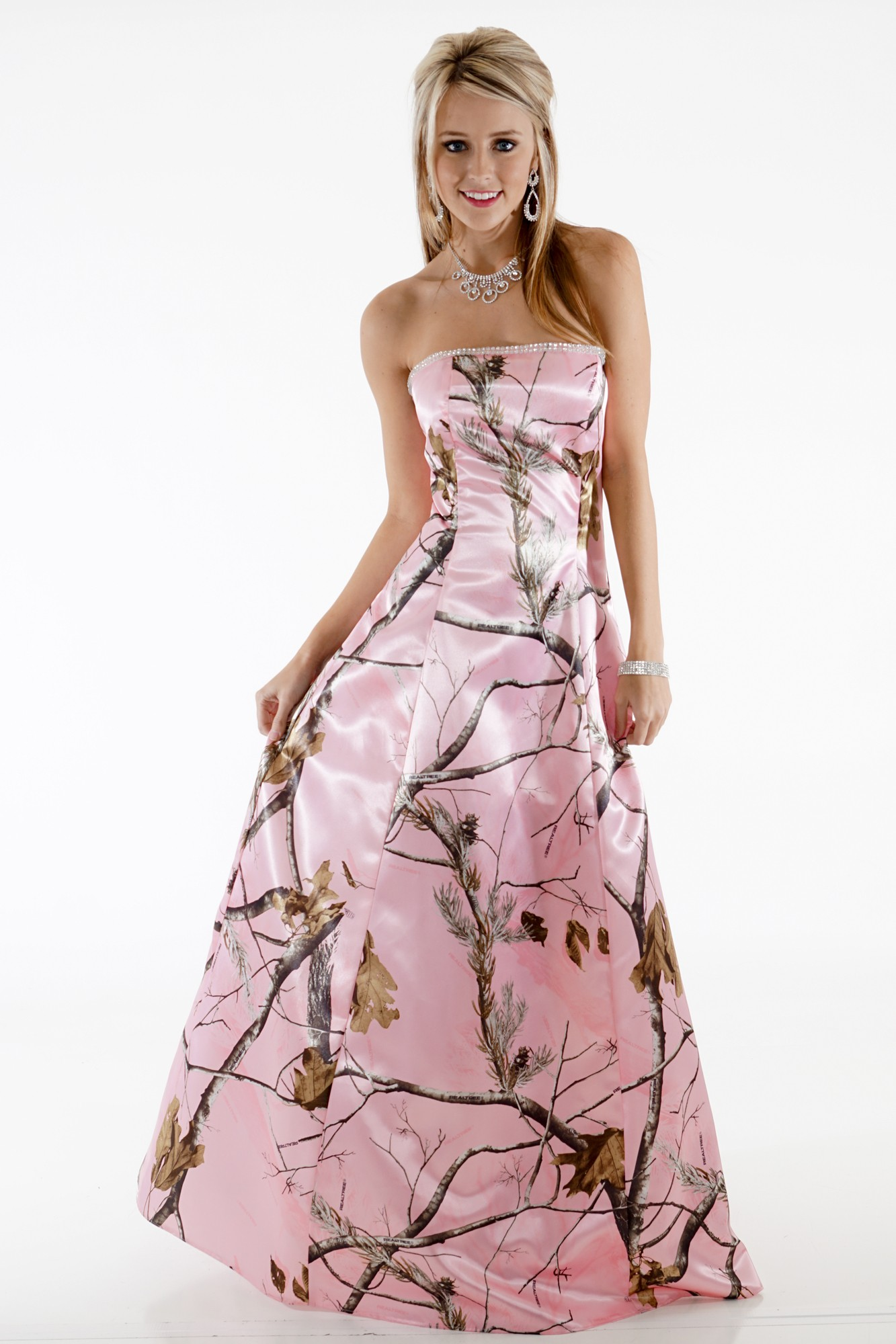 Camo Aline Gown Camouflage Prom Wedding Homecoming Formals