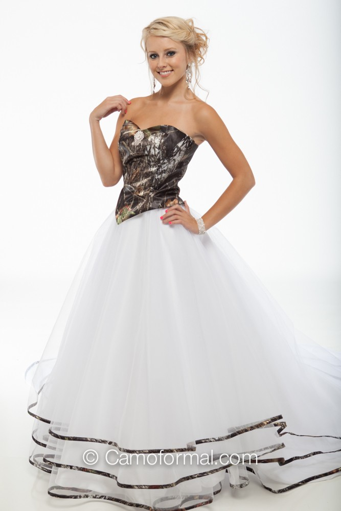 9049 Muddy Girl Triple Net Skirt And Top Camouflage Prom