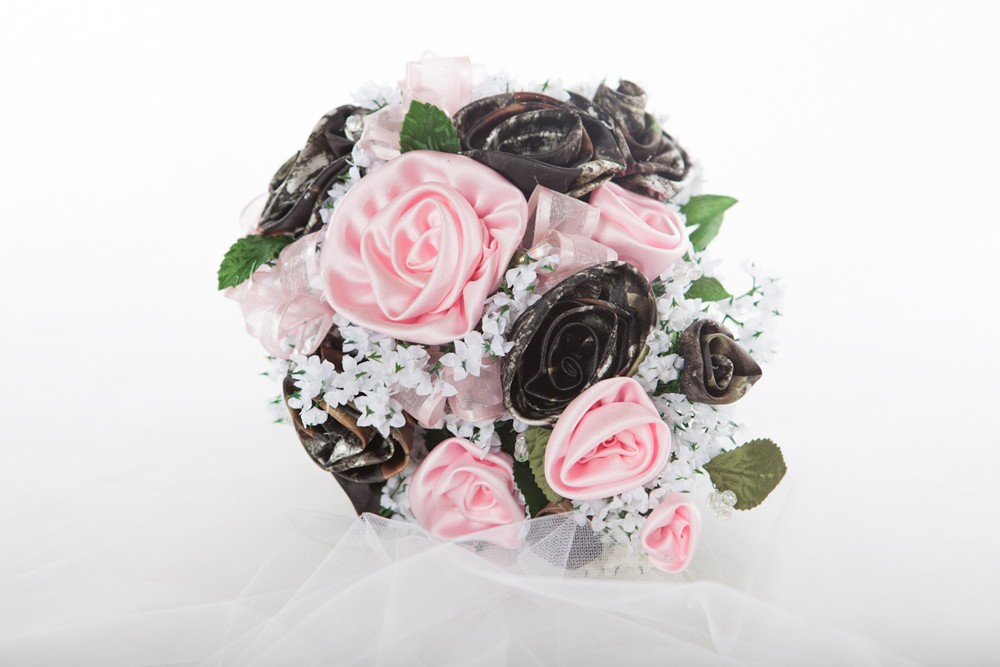 Camo floral special occasion bouquet camouflage prom wedding
