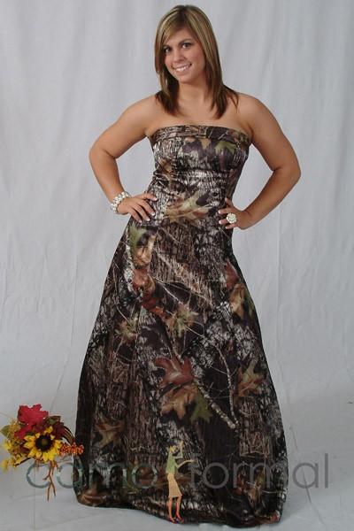 3034 camo prom or wedding dress camouflage prom wedding for Mossy oak camo wedding dress