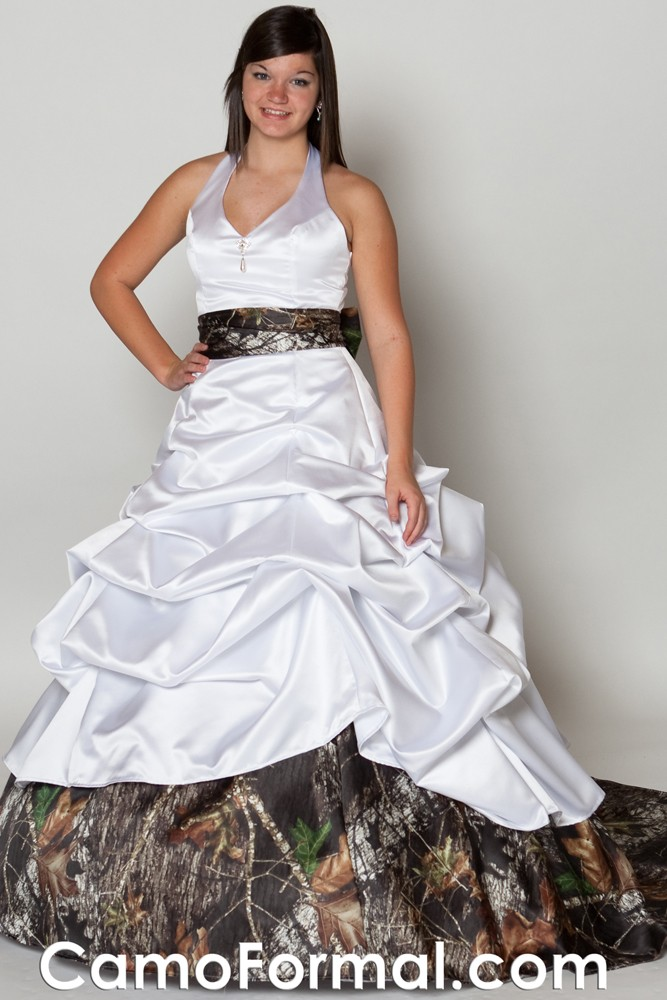 Camo pickup ball gown camouflage prom wedding homecoming for Where to buy camo wedding dresses