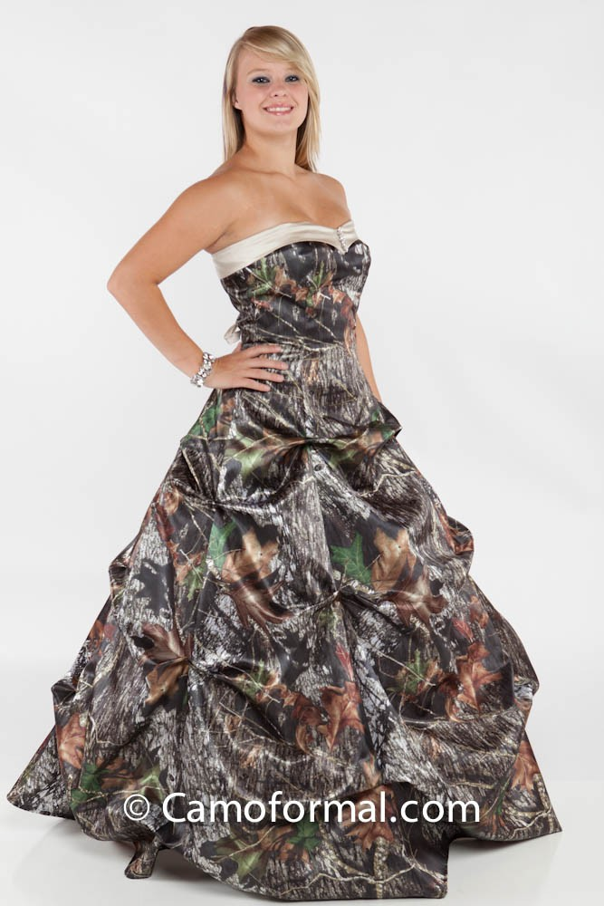 Pr 3771 gabby a line pickup sweetheart neckline for Camo ribbon for wedding dress