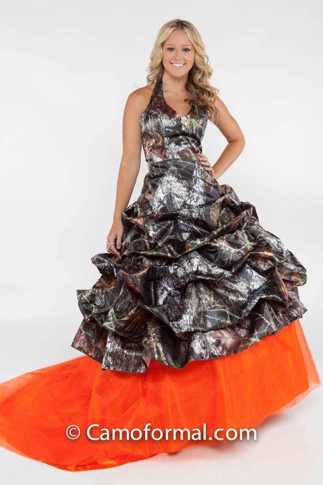 camo pickup ball gown camouflage prom wedding homecoming