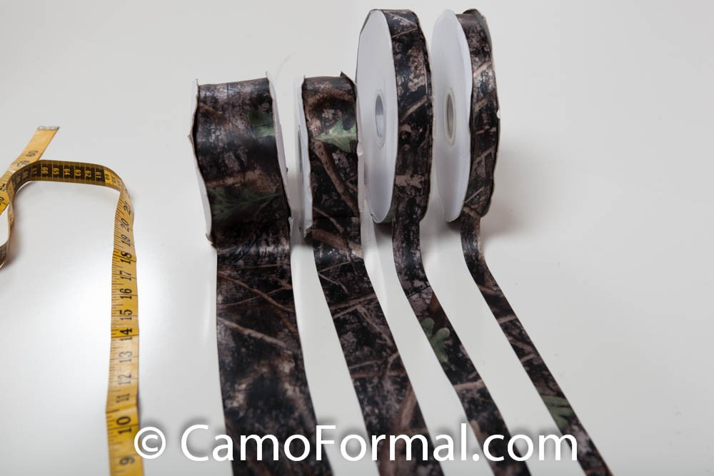 Camo ribbon sold by the yard camouflage prom wedding for Camo ribbon for wedding dress