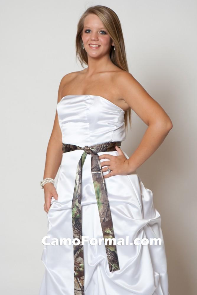Image Result For White Camo Wedding Dress Sash