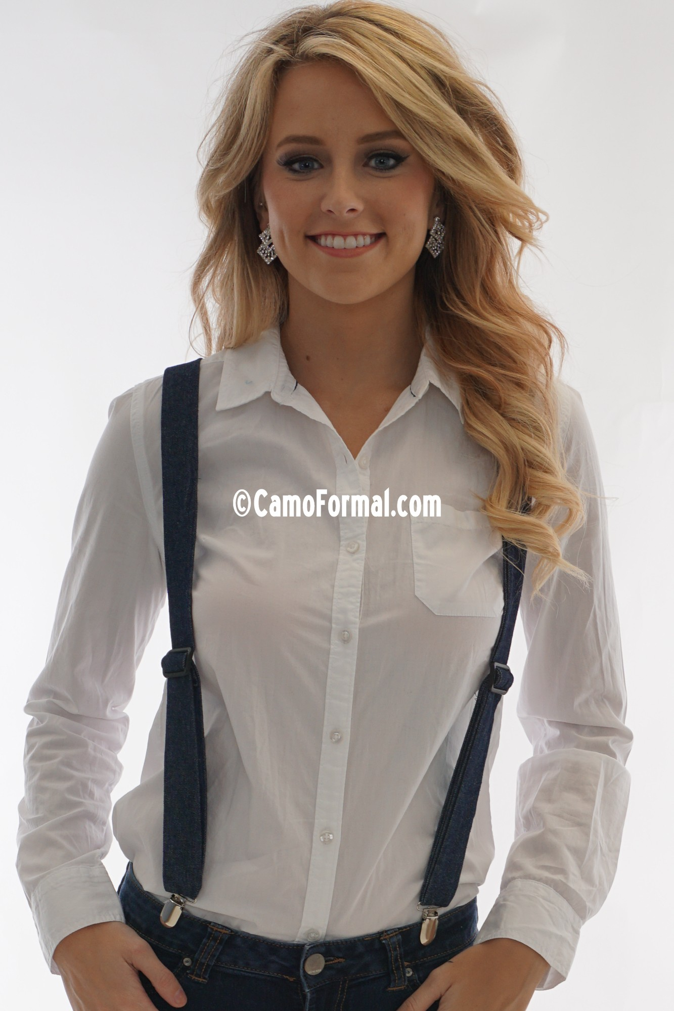 Camo Suspenders Adult Camouflage Prom Wedding Homecoming