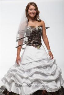 * 9049-3066-3070 3 piece Camo Wedding Dress with Slip