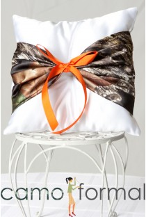 Pillow Ringbearer with Camo Accent