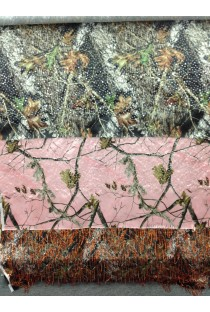 Camo Satin Fabric with Dangle Sequins