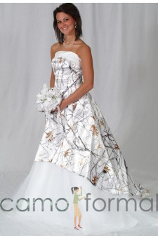 "* 3010 ""Madeline"" Hi-Low Wedding Gown with Train"