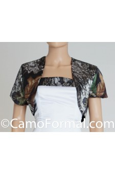 "Jacket ""Camo"" Bolero with Short Sleeves"