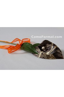 "Stem- Long,  ""Camo"" Calla Lilly with Ribbon"