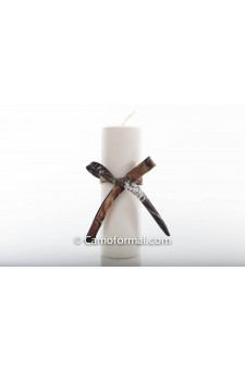 Unity Candle with Camo Trim