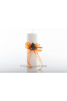 Unity Candle with Ribbon Trim