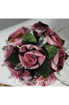 *Camo Floral Bouquet, Small with Crystals