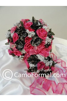 "* Camo Floral ""Bridal"" Bouquet TO HAVE & HOLD 3 pieces"