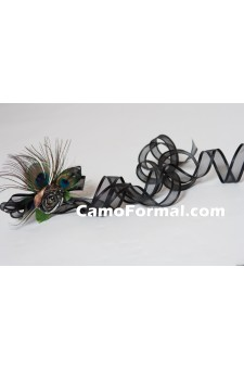 Peacock Passion and Camo Hair Barrette