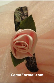 Girls Covered Headband with Rose