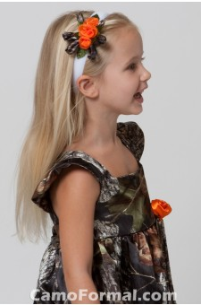 Girls Headband, With Side Roses/Ribbons